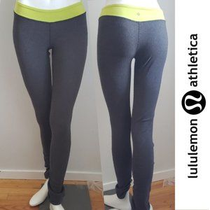 Lululemon Lounge Leggings Grey Green Waist Band SM